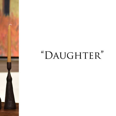 Handforged iron candle holders-daughter