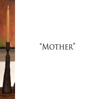 Handforged iron candle holders-mother
