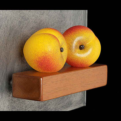 """2 Peaches"" Sculpture"