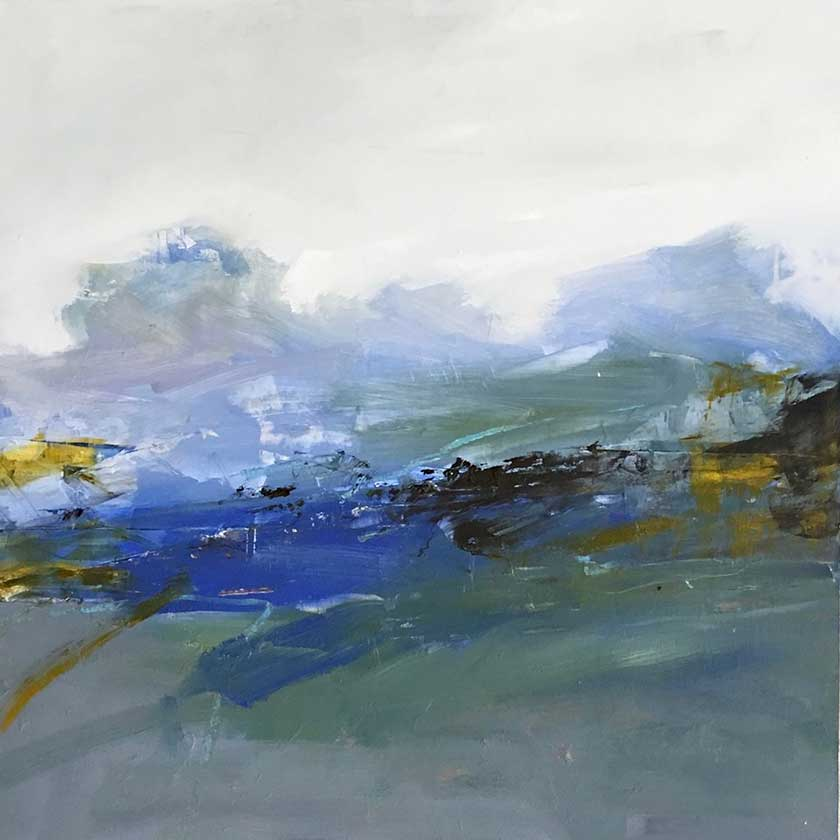 abstract VT landscape oil painting by Julia Jensen