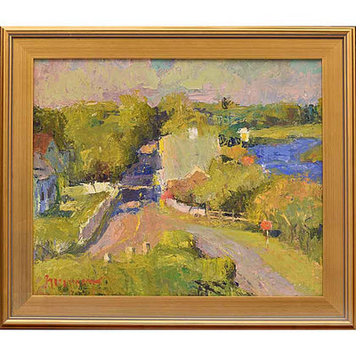Village-Oil Painting 20x24 by VT plein-air painter Mary Giammario