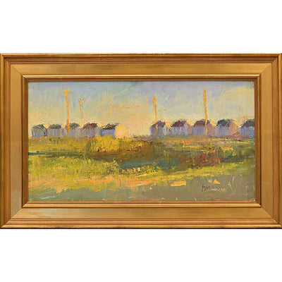 10 on 6-Oil Painting 14x26 by VT plein-air painter Mary Giammario