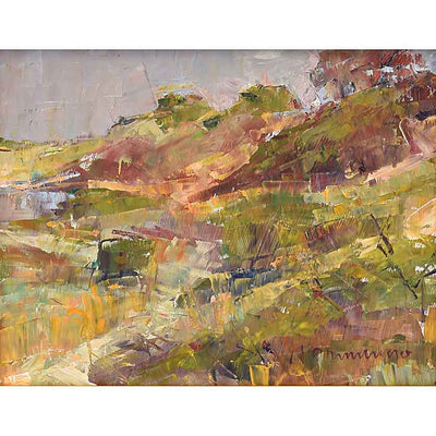 Dot The Landscape-Oil Painting 11x14 by VT plein-air painter Mary Giammarino