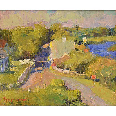 Village-Oil Painting 20x24 by VT plein-air painter Mary Giammarino