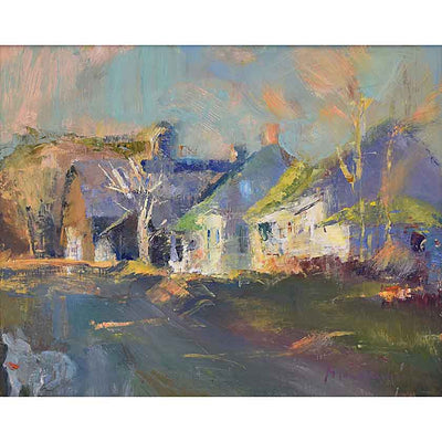 Off The Green-Oil Painting 16x20 by VT plein-air painter Mary Giammarino