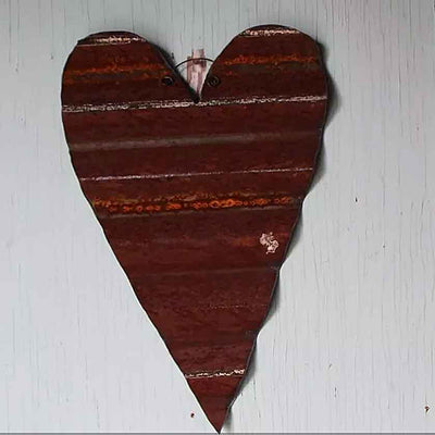 Narrow Metal Heart-8""