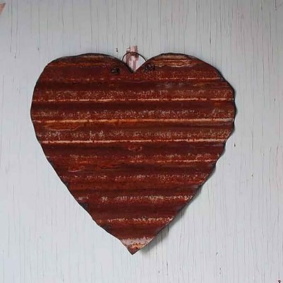 Traditional Metal Heart -  9""