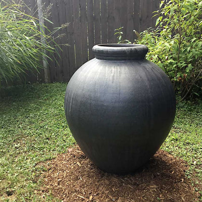 "Gunsmoke Ceramic Garden Vessel-26"" Tall"
