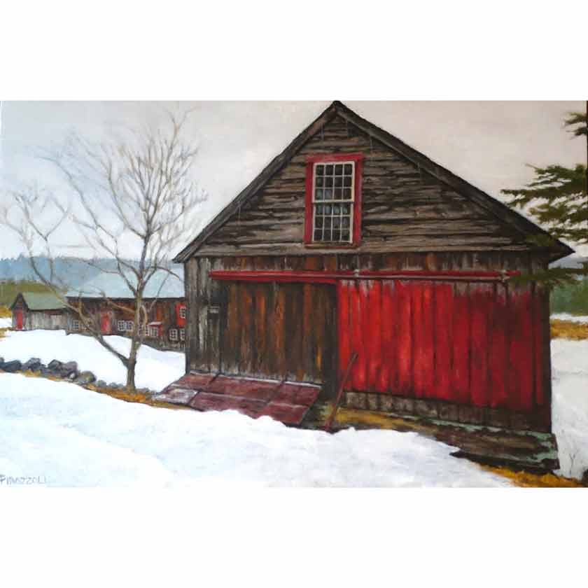 original oil painting by VT artist Tom Pirozzoli