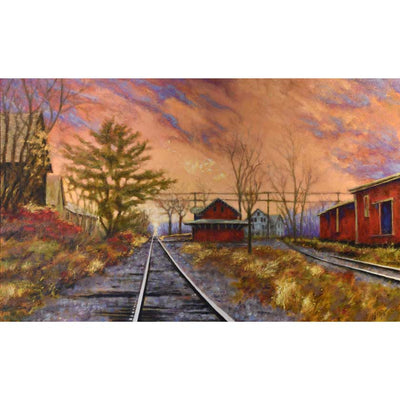 Original oil painting of Chester Vermont's train station