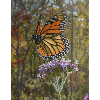 Monarch Butterfly-Oil Painting 14x11