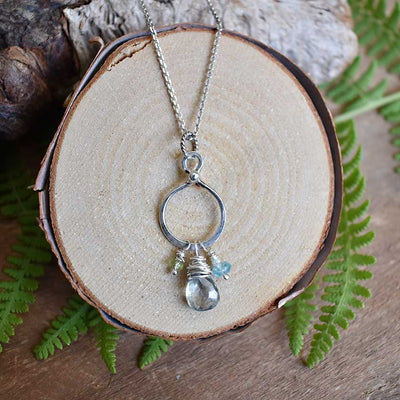 Aquamarine Blossom Necklace