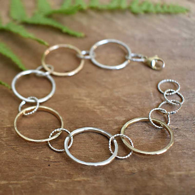 Better Together Silver and Gold Circle Bracelet