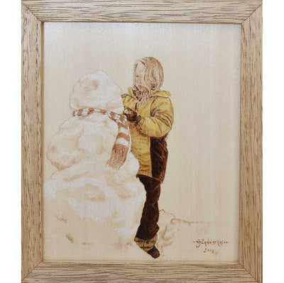 Original Woodburning by Vermont artist Heather Cannistraci