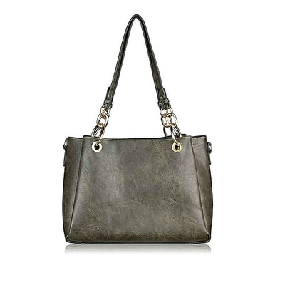 August Vegan Handbag - Grey