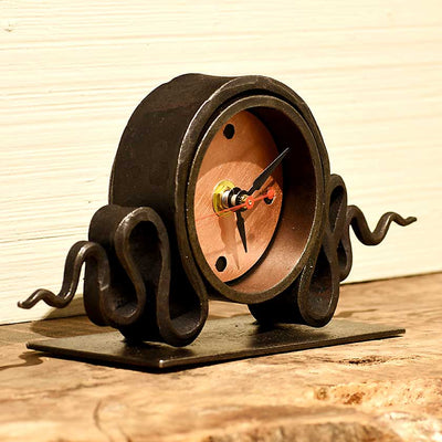 hand forged iron clock made in VT