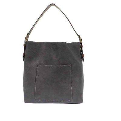 Vegan Leather Tote Bag - Slate Blue