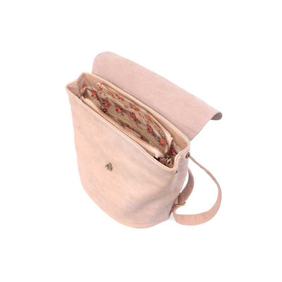 Vegan Leather Backpack-Pink