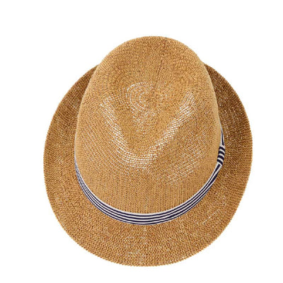 Navy Stripe Straw Hat
