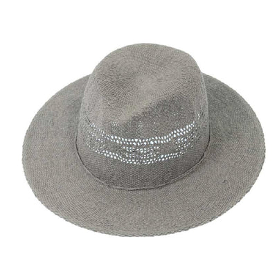 Gray Straw Garden Hat
