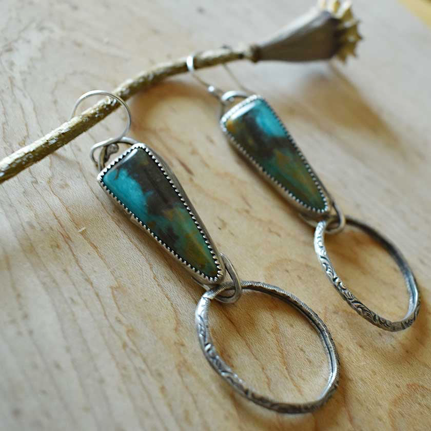 Turquoise Door Knocker Earrings