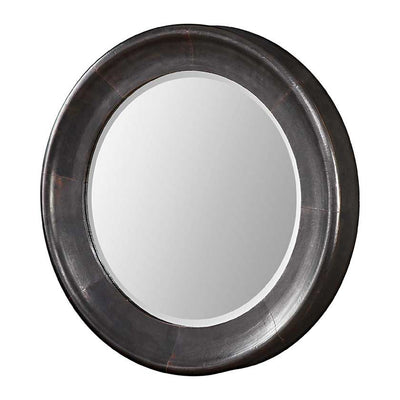 Round Dark Bronze Mirror