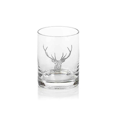 Stag Head Double Old Fashioned Glass