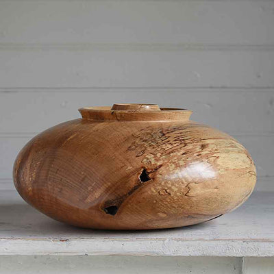 Spalted maple hollowform vessel