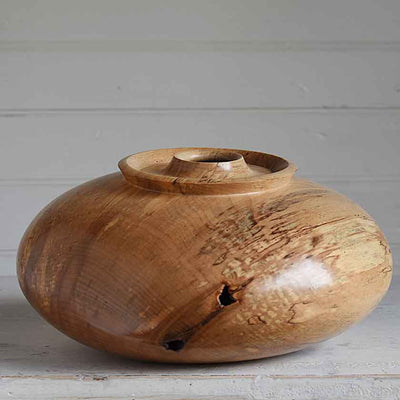 Spalted Tap Maple Hollowform Vessel