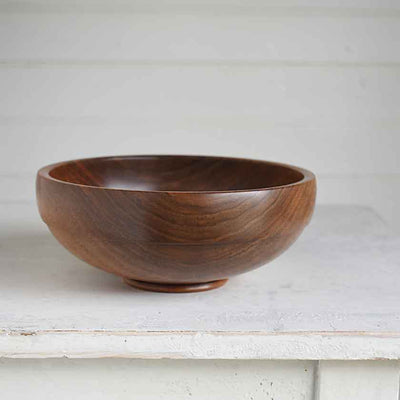 Hand-turned hardwood walnut bowl