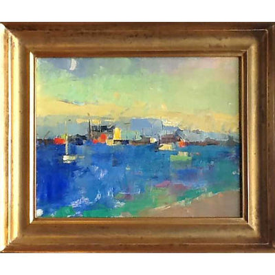 Shipyard-Oil Painting 11x14 by Vermont Artist Mary Giammarino