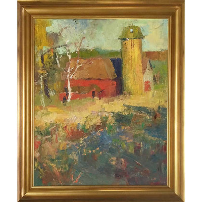Framed oil painting by Vermont plein-air painter Mary Giammarino