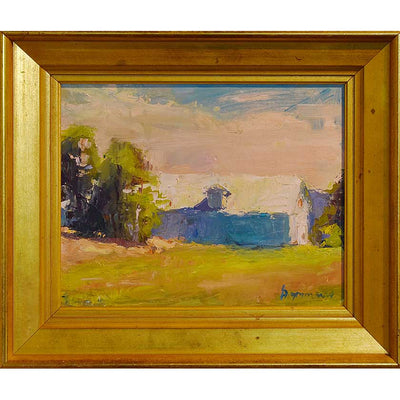 Framed Plein-air painting by Vermont artist, Mary Giammarino