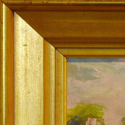 Frame detail of Plein-air painting by Vermont artist, Mary Giammarino