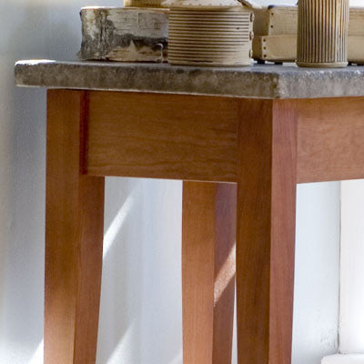 Concrete and Cherry Side Table