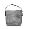 Vegan Leather Tote-Grey