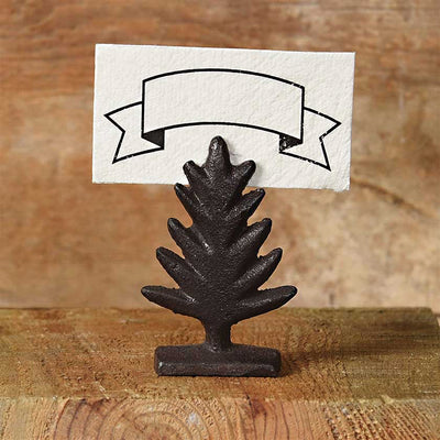 Cast Iron Tree Place Card Holder
