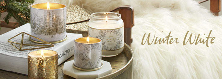 Winter White Radiant Candle