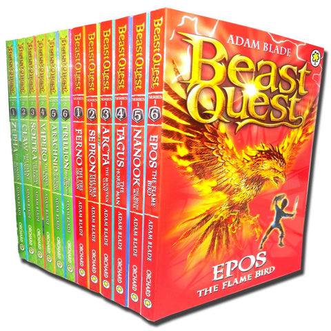 Beast Quest Collection Adam Blade 12 Books Set (Series 1 and 2) Vol 1 to 12