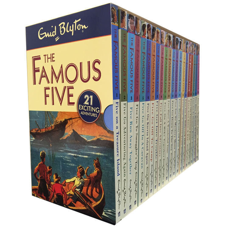 Enid Blyton Famous Five Series, 21 Books Box Collection Pack Set (Complete Gift Set Collection)
