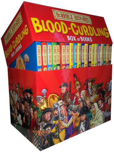 Horrible Histories Collection - Blood Curdling - 20 Books Box Set by : Terry Deary