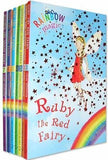 The Rainbow Magic Fairies (Original) Complete Set 1-7: Ruby the Red Fairy, Amber the Orange Fairy, Saffron the Yellow Fairy, Fern the Green Fairy, Sky the Blue Fairy, Inky the Indigo Fairy, etc
