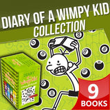 Diary of a Wimpy Kid Box Set - 9 Book Collection - Paperback - by Jeff Kinney