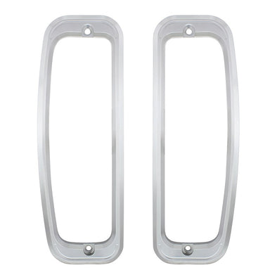 1967-77 Ford Bronco Tail Ligth Bezel Set Anodized Billet Aluminum. Includes Gaskets and Screws
