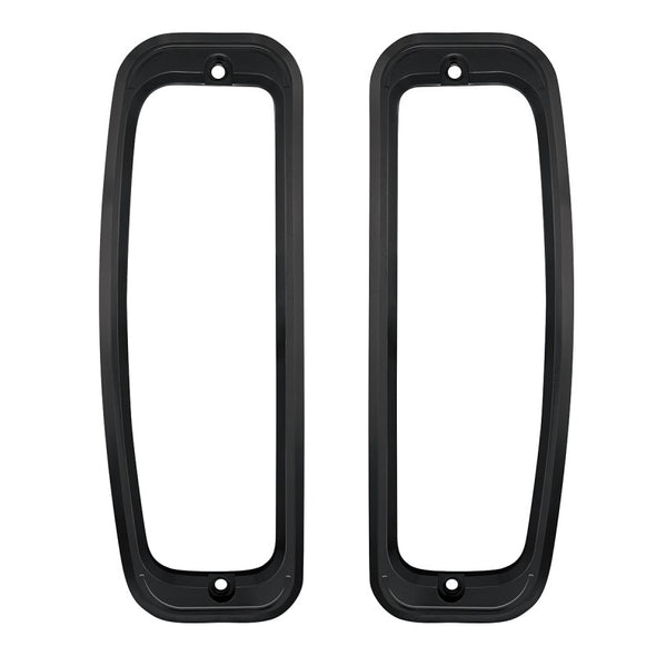 1967-77 Ford Bronco Tail Ligth Bezel Set Satin Black Anodized Finish. Includes Gaskets and Screws