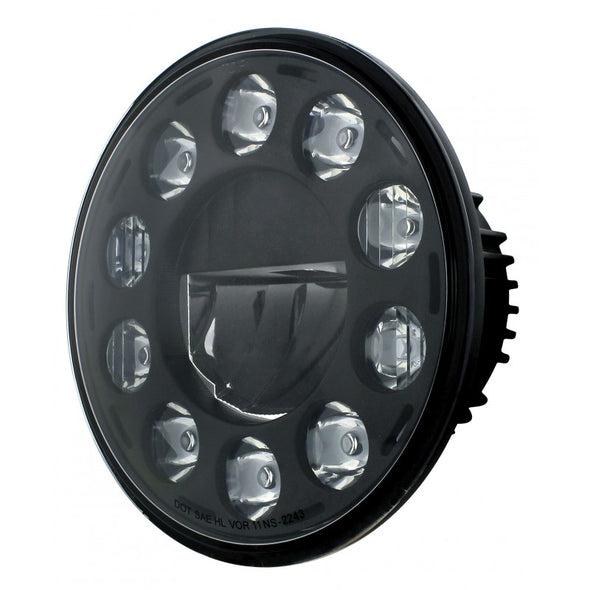 "7"" High Powere LED Crystal Headlight - 12V"