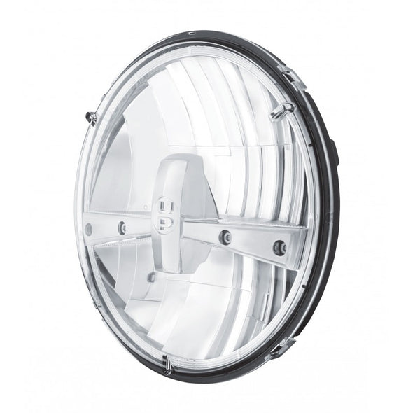 "7"" Round Dual Function High Power LED Headlight - Chrome"