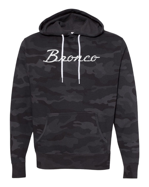 Ford Bronco Script Vintage Wash Lightweight Slim Fit Premium Hoodie
