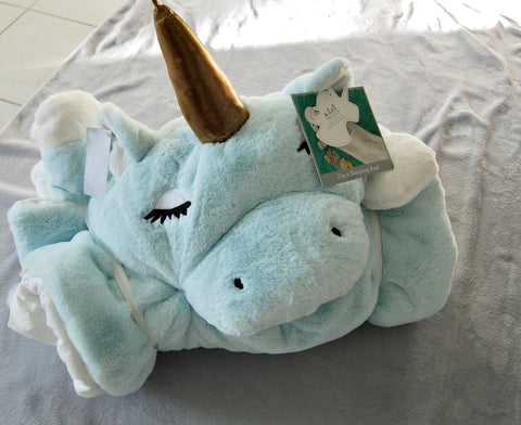 "Frolics Plush Sleeping Bag Assorted Unicorns (YOU CHOOSE) 29"" X 68 - Brand New w/ Tags - eckoYak"