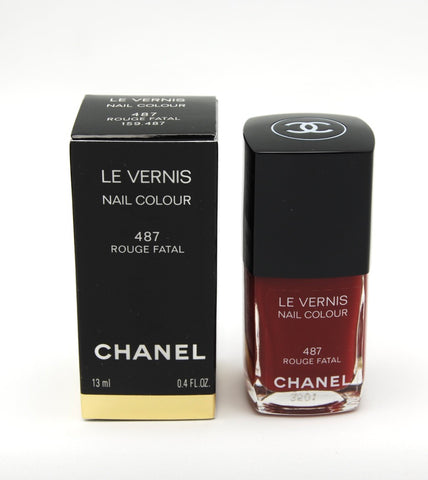 Chanel Le Vernis Nail Colour - 487 Rouge Fatal - Limited Edition - eckoYak